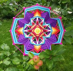 "Mandala Ojo de Dios ""Eden Flower"". You can order this mandala https://www.facebook.com/jevgenial"