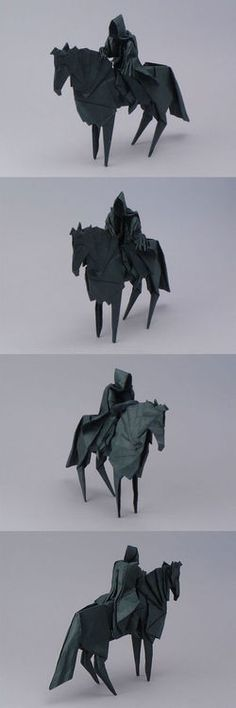 origami nazgul... - (the lord of the rings)