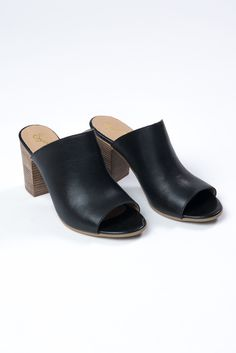 Beautiful open-toed, slip-on mule by Seychelles Leather upper Man-made lining Padded man-made insole Stacked block heel Made in Italy Available in Taupe, Black