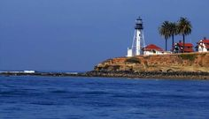 """The """"New"""" Lighthouse on the end of Point Loma, San Diego"""