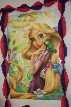 Rapunzel party - get a poster and use for decor, later she will like it for her room