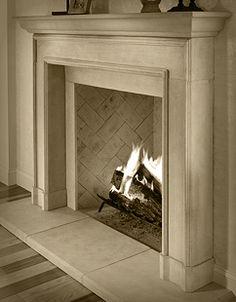 Stone Fireplace Surround, Shiplap Fireplace, Fireplace Hearth, Home Fireplace, Fireplace Remodel, Modern Fireplace, Living Room With Fireplace, Fireplace Design, Fireplace Ideas