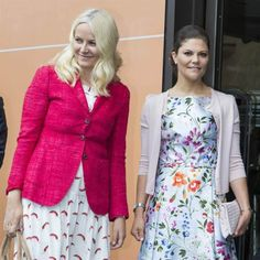 """Crown Prince Haakon and Crown Princess Mette-Marit of Norway, Crown Princess Victoria of Sweden attended the """"Eat Stockholm Food Forum 2015"""" on June 1, 2015 Stockholm, Sweden."""