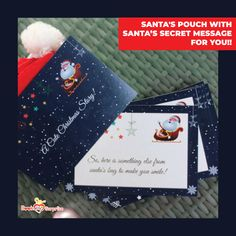 Our Secret Santa Leaves His Pouch At Your Loved One's Doorstep. What Comes Inside The Pouch Is Mind-Blowing! Christmas Gift Box, Personalized Christmas Gifts, Christmas Gift Wrapping, A Christmas Story, Christmas Cards, Creative Gifts, Unique Gifts, Best Gifts, Best Boyfriend Gifts