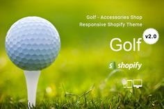 Golf–Accessories Shopify Theme by ThemeTidy on @creativemarket