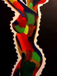 The girl with the chameleon soul! Acrylic painting #renisoaresart