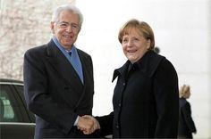 "Merkel Monti ""Insieme supereremo la crisi"""