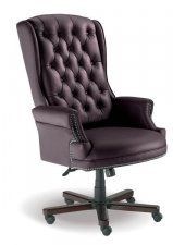 Judges Black Leather Chair
