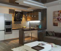 Кухня-гостиная 18 кв м (42 фото): видео-инструкция по оформлению дизайна интерьера своими руками, цена, фото