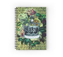 """Vintage Dreams"" -  Royal Crown & Roses Spiral Notebook"