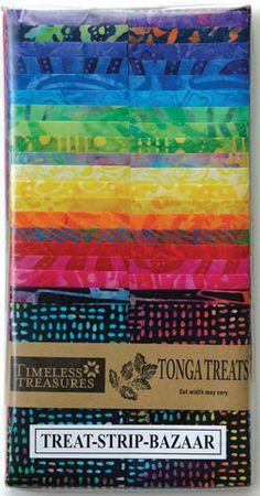 """Timeless Treasures Tonga Batik Treat Strips 2.5"""" Bazaar"""