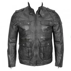 4-Pocket Hipster Washed Leather Jacket