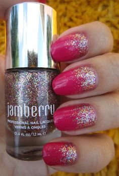 Concrete and Nail Polish: Jamberry Glitter Gradient