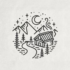 First cabin design of the year, surprised it took me this long!  #graphicdesign #design #art #artwork #handdrawn #drawing #illustration #linework #tattoo #slowroastedco