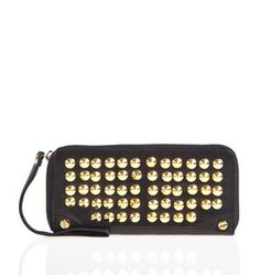 Purse optional: The rich black and the striking stud pattern make this zip-around wristlet wallet an accessory that can definitely stand on its own.