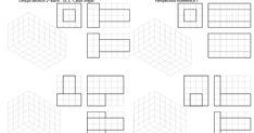 Blog sobre dibujo técnico de bachillerato. Ejercicios. Diédrico. Selectividad. Drawing Lessons, Isometric Drawing Exercises, Geometric Drawing, Technical Drawing, Art Drawings, Blog, Perspective, Technical Drawings, Baccalaureate