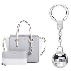 Kate Spade disco ball key chain Kate Spade key chain - disco ball silver. New w/o tags. Not sure if it is missing a piece on the bottom or not- pls see last photo. Otherwise perfect shape! kate spade Accessories