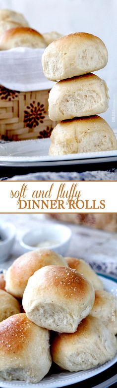 Perfect Soft and Fluffy Dinner Rolls – NO HAND KNEADING! double brushed with but… Perfect Soft and Fluffy Dinner Rolls – NO HAND KNEADING! double brushed with butter and topped with garlic salt. I will never make another roll recipe again! Dinner Rolls Recipe, Roll Recipe, I Love Food, Good Food, Yummy Food, Fluffy Dinner Rolls, Bread Recipes, Cooking Recipes, Bread And Pastries