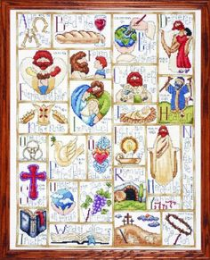 Tobin 14 Count Inspirational ABC Counted Cross Stitch Kit...