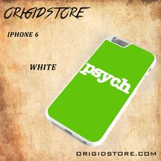 PSYCH Black White Snap On 3D For Iphone 6 Case