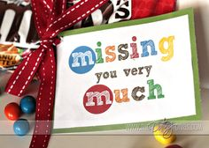Missing You easy gift idea