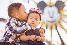 Professional family photos in a Disney park by D. Park Photography. See the photos here: http://magicaldayblog.com/2014/02/family-portraits-at-disneyland-with-d-park-photography/