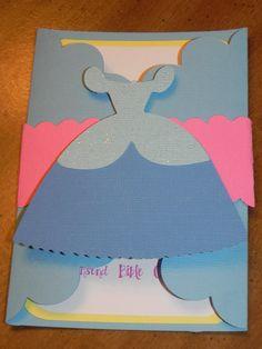 Cinderella Birthday Party Invitation - Set of 12.