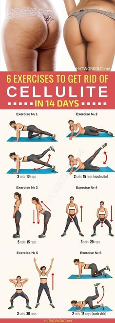 Here are 6 effective exercises to get rid of cellulite, designed to tighten the muscles and reduce the thighs and buttocks. #FITNESSPICTURES #MUSCLEFITNESS
