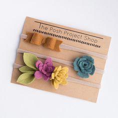 Bow Succulent Floral Nylon Headband Trio Perfect For Accesorios Para Niñas 7656d795159d