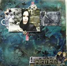 Another music theme scrapbooking layout, with my favorite Tarja Turunen, a Finnish singer and songwriter, lyric soprano and former singer of Nightwish.