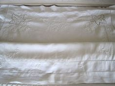 Stunning Antique French Fil de Lin Hand Embroidered Oxford Pillowcase Sham GB Monogram www.fatiguedfrenchfinds.com Bed Linen, Linen Bedding, Pillowcases & Shams, French Bed, French Antiques, Bed Pillows, Pillow Cases, Oxford, Monogram