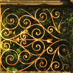 rusty gate- rotate so heart is rightside up
