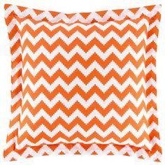 happy chic by jonathan adler orange chevron pillow