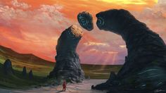 """My first (finished) Fantasy landscape, """"True Believer"""" By Mike Yakovlev"""