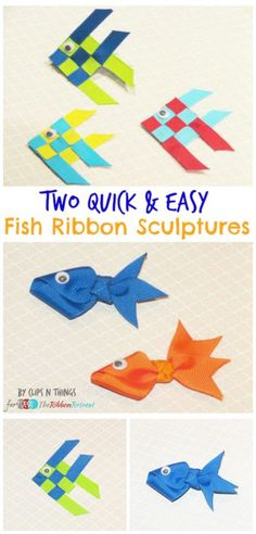 Two Quick and Easy Fish Ribbon Sculptures - The Ribbon Retreat Blog