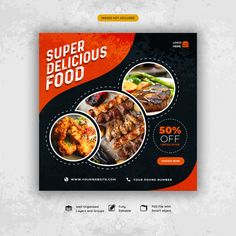 Discover thousands of Premium PSD available in PSD and JPG formats Graphic Design Flyer, Web Design, Web Banner Design, Web Banners, Food Menu Design, Food Poster Design, Restaurant Poster, Restaurant Recipes, Social Media Design