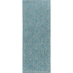 Ford Transitional Aqua Indoor/Outdoor Area Rug