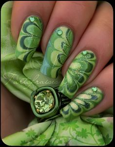nails too long for me, but I am digging the greens