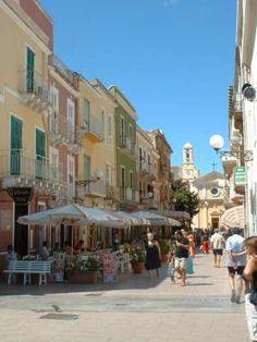 Centro storico di Carloforte - Corso Tagliafico  Sardegna, Italy