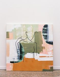 Autumn Series — Ash Holmes Art Painting Inspiration, Art Inspo, Abstract Line Art, Modern Abstract Art, Modern Canvas Art, Modern Art Paintings, Painting Abstract, Abstract Canvas, Kunst Inspo