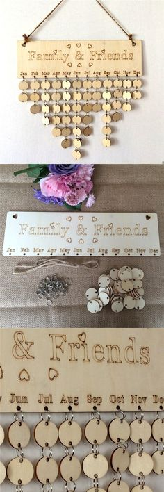 Best way to DIY Wooden Faith Family And Friends Birthday Calendar Reminder Board~ click the picture or the Visit button to get :)