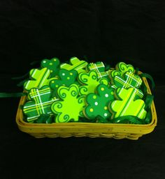 St. Patrick's Day Cookie Basket by ClawsonCookies on Etsy, $39.00