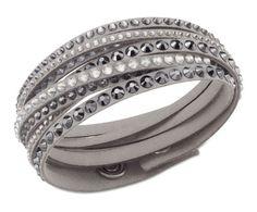 Swarovski Deluxe Slake Grey Wrap Bracelet 5021033. Available at Johnsons Jewellers: https://johnsonsjewellers.co.uk/swarovski-deluxe-slake-grey-wrap-bracelet-5021033