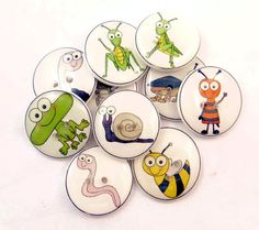 10 Bug Buttons Handmade Buttons Assorted Insect by buttonsbyrobin