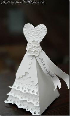 Petal Cone Wedding dress