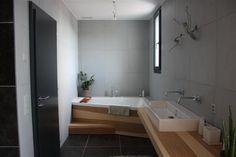 Salle de bain - salle d\'eau 4.6m2 sols gris foncé - Gers (32 ...