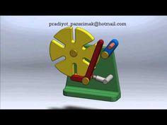 Machine Design Technology : 9 Locking arm geneva เจนิวาแบบแขนล๊อคตำแหน่ง - YouTube