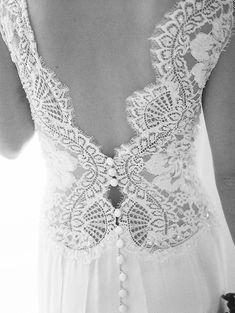 watters lace back wedding dress