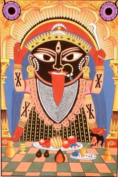 Exotic India provides the most exhaustive collection of Indian Art such as folk art paintings, Hindu statues, Indian Jewelry, Indian Saris as well as Salwar Kameez. Kali Puja, Madhubani Art, Madhubani Painting, Durga Painting, Kali Goddess, Mother Goddess, Ancient Goddesses, Gods And Goddesses, Maa Kali Images