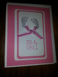 Baby card / stampin up